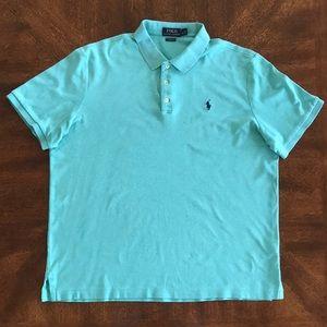 Polo Ralph Lauren classic fit green polo shirt L